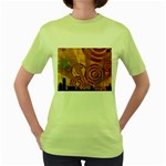 wallpaper_22315 Women s Green T-Shirt