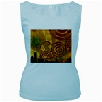 wallpaper_22315 Women s Baby Blue Tank Top