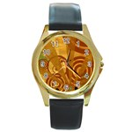 wallpaper_22315 Round Gold Metal Watch