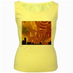 wallpaper_22315 Women s Yellow Tank Top