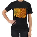 wallpaper_22315 Women s Black T-Shirt (Two Sides)
