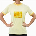 yellowdesign Women s Fitted Ringer T-Shirt
