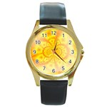 yellowdesign Round Gold Metal Watch