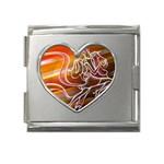 7 Mega Link Heart Italian Charm (18mm)