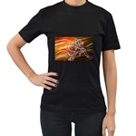 7 Women s Black T-Shirt (Two Sides)