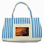 7 Striped Blue Tote Bag