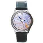 6 Round Metal Watch