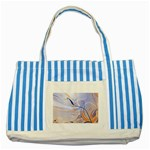 6 Striped Blue Tote Bag