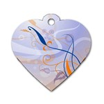6 Dog Tag Heart (One Side)