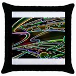 5 Throw Pillow Case (Black)