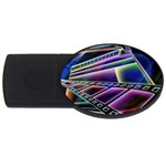 4 USB Flash Drive Oval (1 GB)