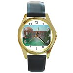 Palace of Fine Arts Round Gold Metal Watch