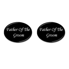 Father of the Groom Cufflinks (Oval) from SnappyGifts.co.uk Front