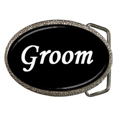 Groom Belt Buckle from SnappyGifts.co.uk Front