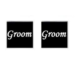 Groom Cufflinks (Square) from SnappyGifts.co.uk Front