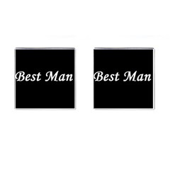 Best Man Cufflinks (Square) from SnappyGifts.co.uk Front