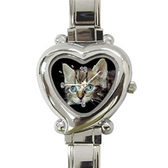 Cute Kitten Cat Heart Italian Charm Watch from www.photogiftsmall.com Front