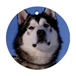 Alaskan Malamute Dog Ornament (Round)