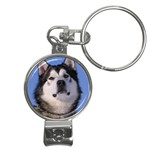 Alaskan Malamute Dog Nail Clippers Key Chain