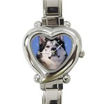 Alaskan Malamute Dog Heart Italian Charm Watch