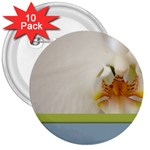 Wedding Orchid 3  Button (10 pack)