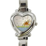 Wedding Orchid Heart Italian Charm Watch