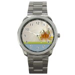 Wedding Orchid Sport Metal Watch