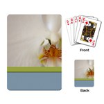 Wedding Orchid Playing Cards Single Design