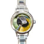 Parrot Round Italian Charm Watch