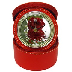 Red Rose Reflections Flower Jewelry Case Clock from www.uniquelyartful.com Front