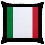 Italian Flag Throw Pillow Case (Black)