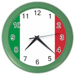 Italian Flag Color Wall Clock