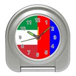 Italian & Russian Flag Travel Alarm Clock