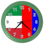Italian & Russian Flag Color Wall Clock