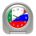 Italian & Russian Flag (diag) Travel Alarm Clock