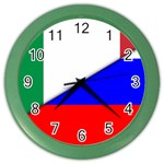 Italian & Russian Flag (diag) Color Wall Clock