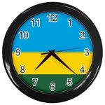 Rwandan Flag Wall Clock (Black)
