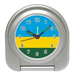 Rwandan Flag Travel Alarm Clock