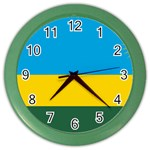 Rwandan Flag Color Wall Clock
