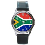 South African Flag Round Metal Watch
