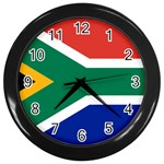 South African Flag Wall Clock (Black)
