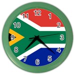 South African Flag Color Wall Clock