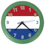 Dutch (Netherlands) Flag Color Wall Clock