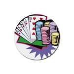 Poker D5 Rubber Round Coaster (4 pack)