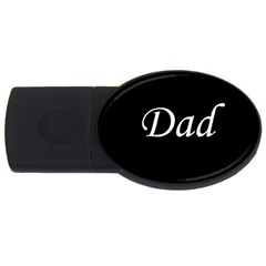 Dad copy USB Flash Drive Oval (4 GB) from SnappyGifts.co.uk Front