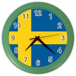 Swedish Flag Color Wall Clock