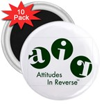 A.I.R. Attitudes In Reverse 3  Magnet (10 pack)