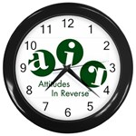 A.I.R. Attitudes In Reverse Wall Clock (Black)