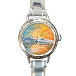 Fantasy Acid Iceberg Surprise Round Italian Charm Watch