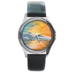 Fantasy Acid Iceberg Surprise Round Metal Watch